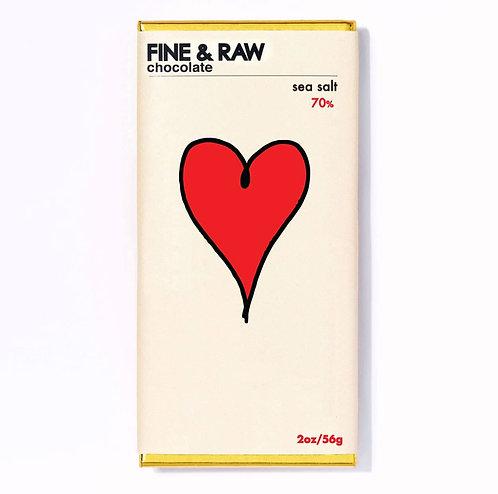 FINE & RAW Dark Chocolate+ Sea Salt Bar