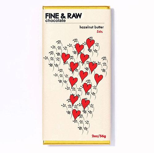 FINE & RAW Hazelnut Butter Chocolate Bar