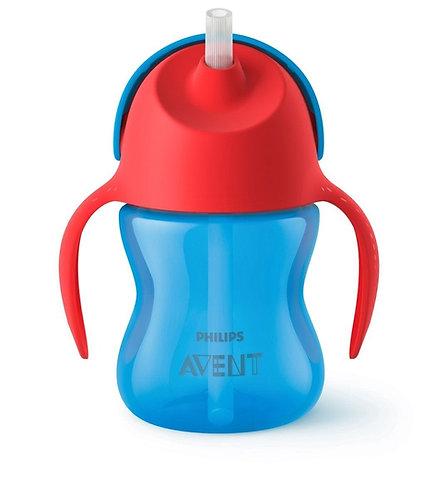 Avent Vaso x 200 ml Strae Cup Azul/Rojo