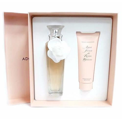 Adolfo Dominguez  Agua Fresca de Rosas Blancas EDT 120 ml + Body Lotion