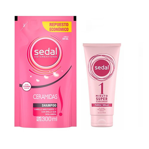 Kit Sedal Super Acond. 1 Minuto + Rep. Shampoo Ceramidas