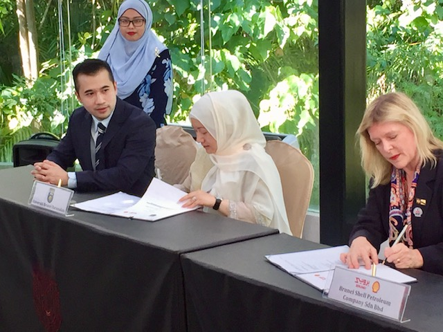 MoU with Brunei Shell Petroleum