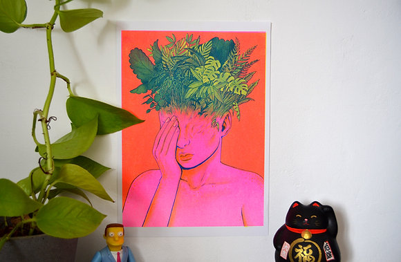 """Mindforest"" A4 Risograph print"