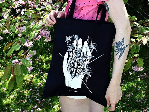"""Figure. 3"" organic cotton tote bag"
