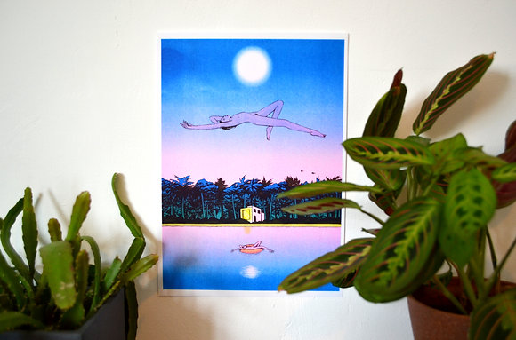 """Lucid Dreaming"" Risograph print"