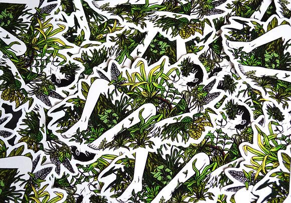 """Plants"" vinyl sticker"