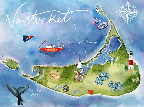 Map of Nantucket