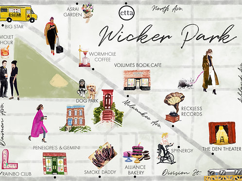 Map of Wicker Park, Chicago