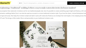 Love Stories TV: Watercolor Invitations 101