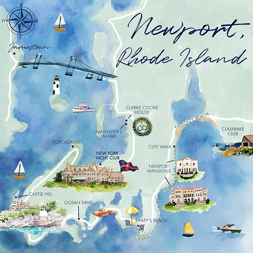 Map of Newport, RI