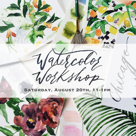 Brunch Watercolor Workshop!