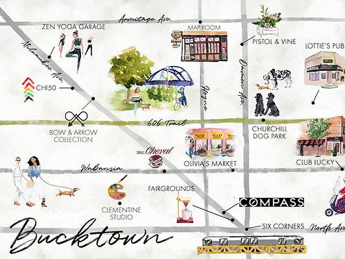 Map of Bucktown, Chicago