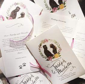 Wedding Program: Joe & Michelle