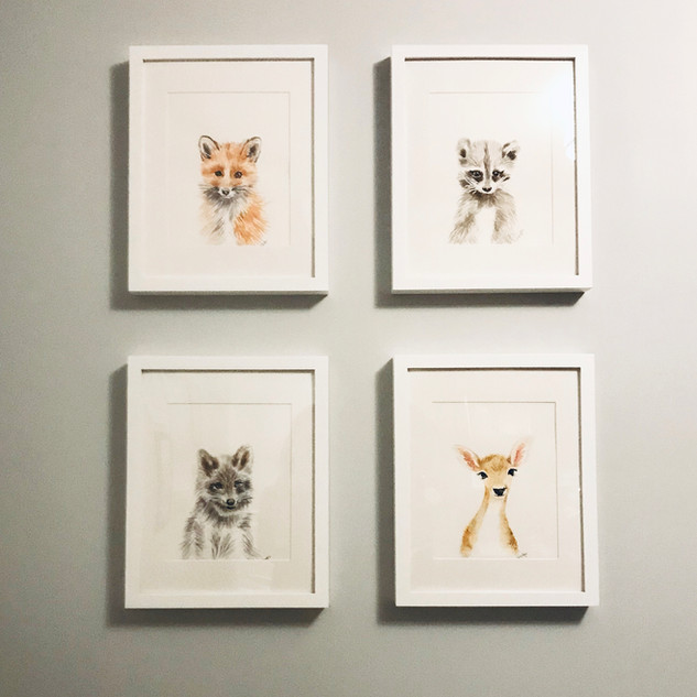 Baby animals for a nursery
