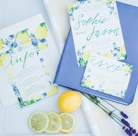 Lemons + Lavender Styled Shoot