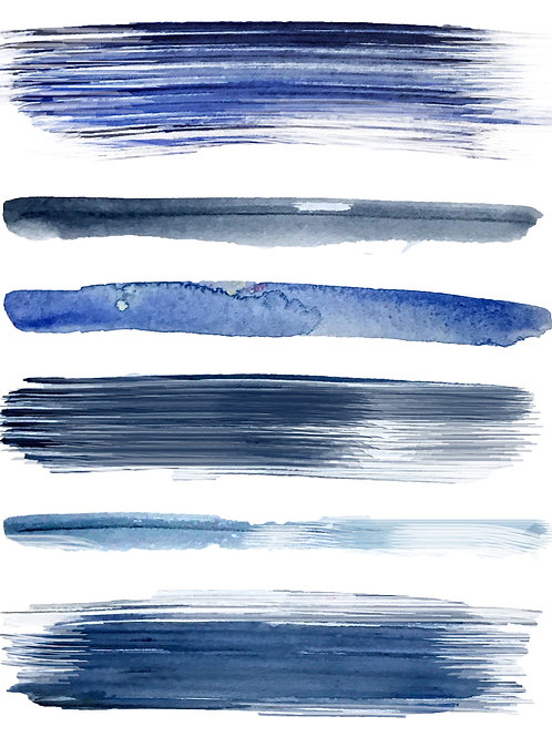 Blue Brushstroke