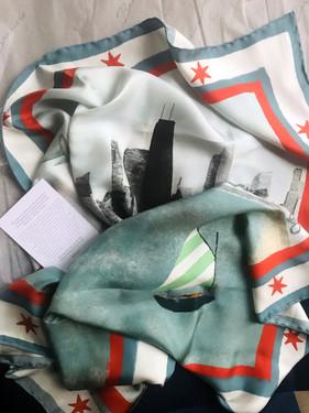 Silk scarf with Banniere