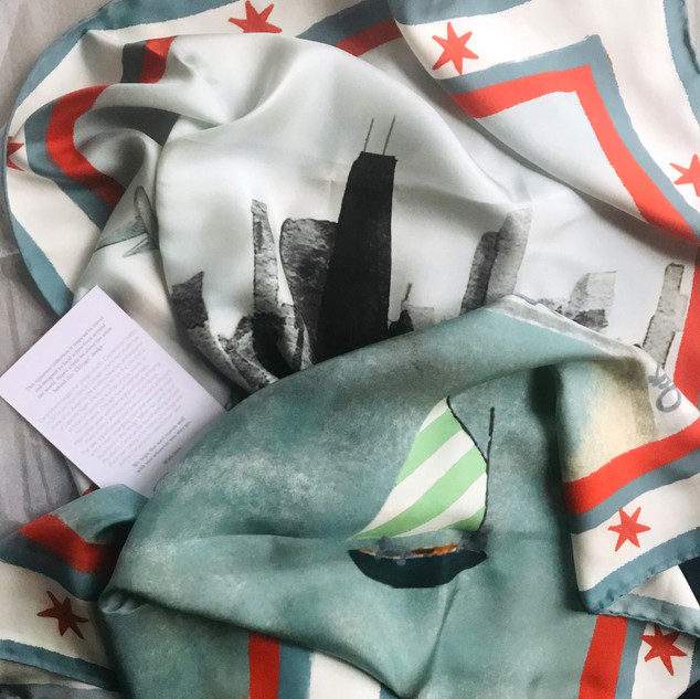 Banniere silk scarf