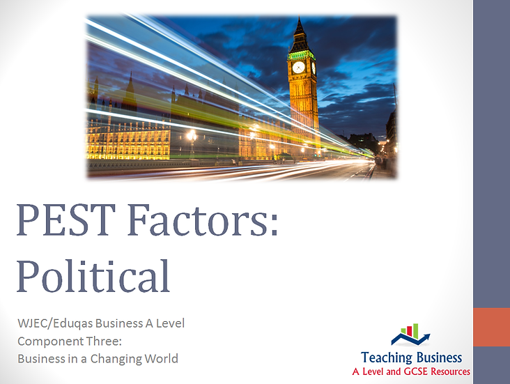 Eduqas PowerPoint PEST: Political