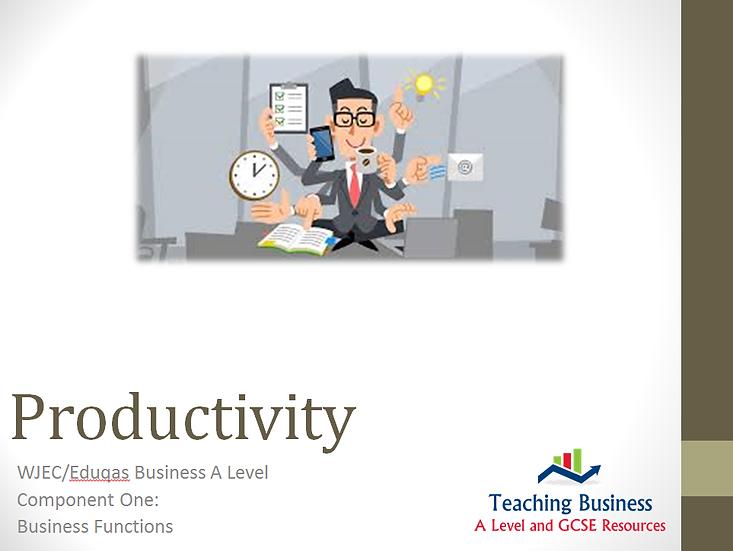 Eduqas PowerPoint Productivity