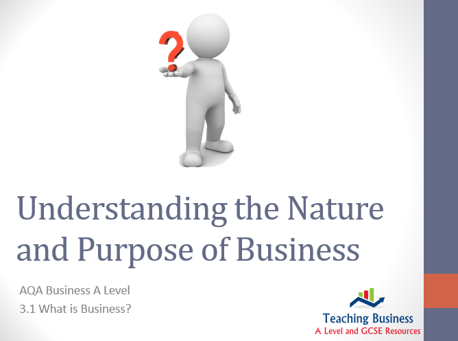 AQA Business - Understanding the Nature and Purpose of Business