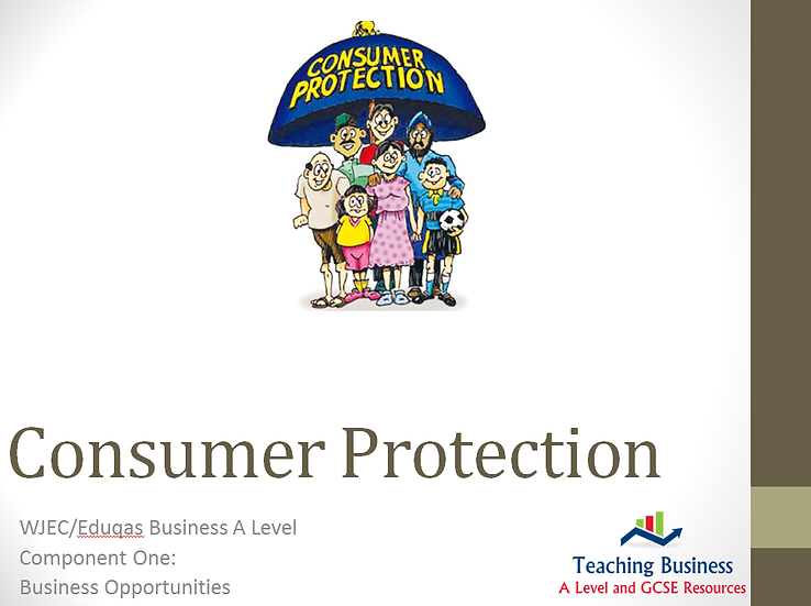 Eduqas PowerPoint Consumer Protection