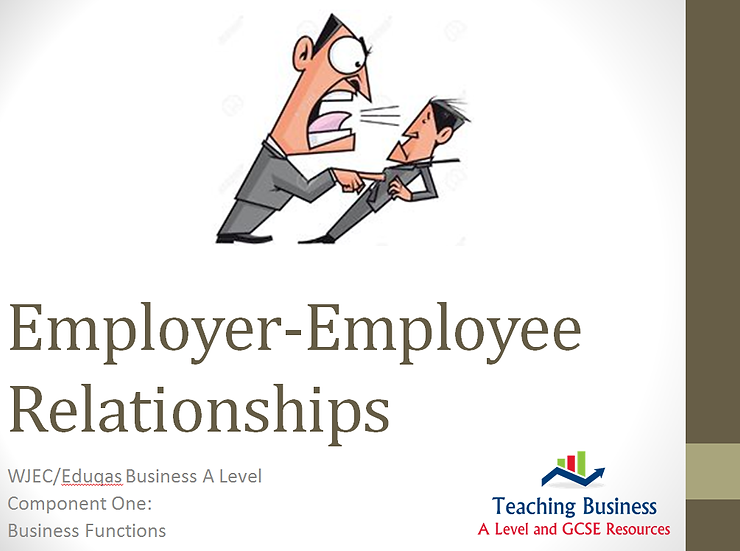 Eduqas PowerPoint Employer-Employee Relations