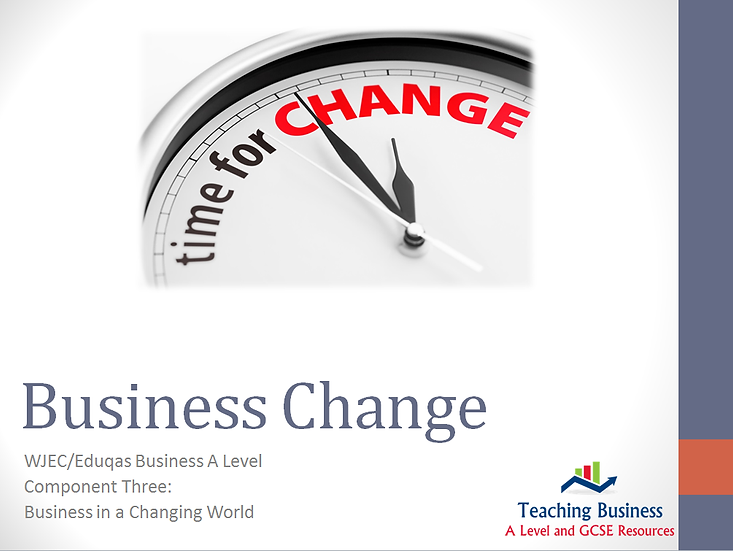Eduqas PowerPoint Business Change
