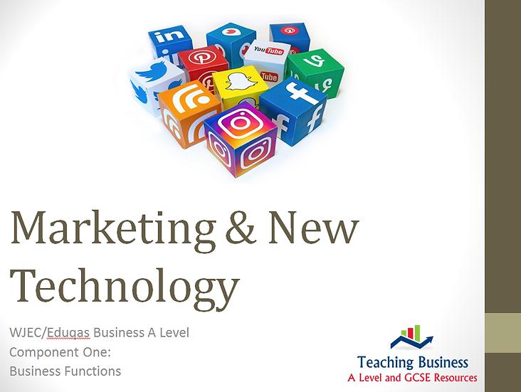 Eduqas PowerPointMarketing & New Technology