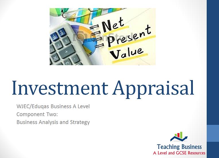 Eduqas PowerPoint Investment Appraisal Techniques