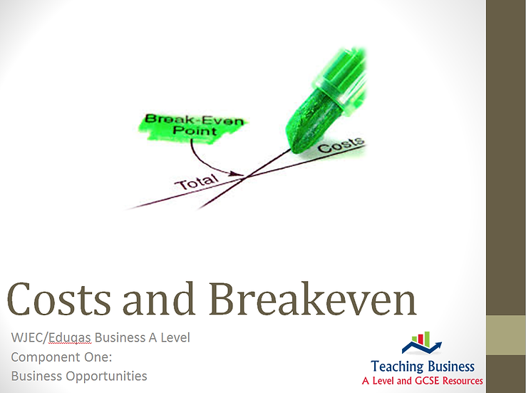 Eduqas PowerPoint Costs and Breakeven
