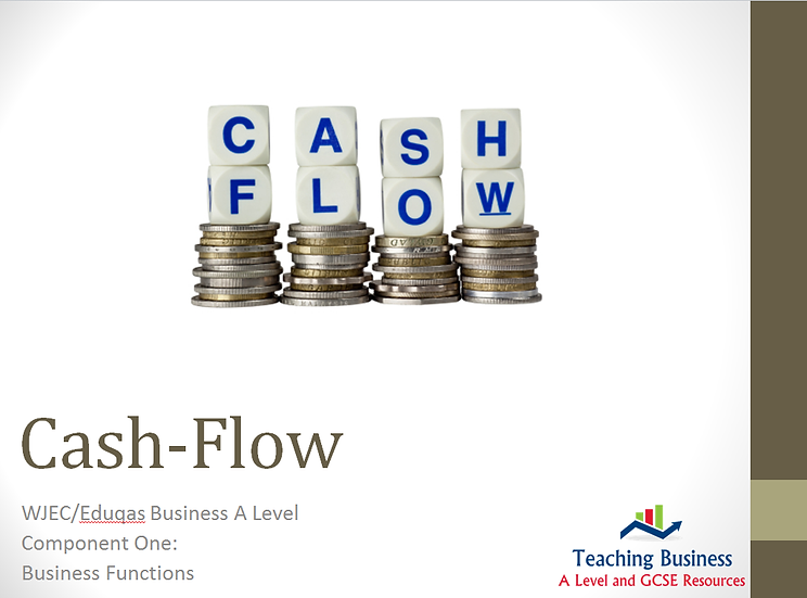 Eduqas PowerPoint Cash Flow
