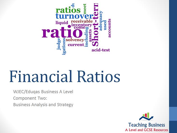 Eduqas PowerPoint Financial Ratio Analysis