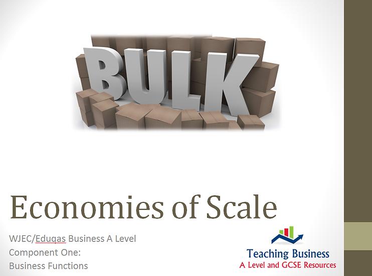 Eduqas PowerPoint Economies of Scale