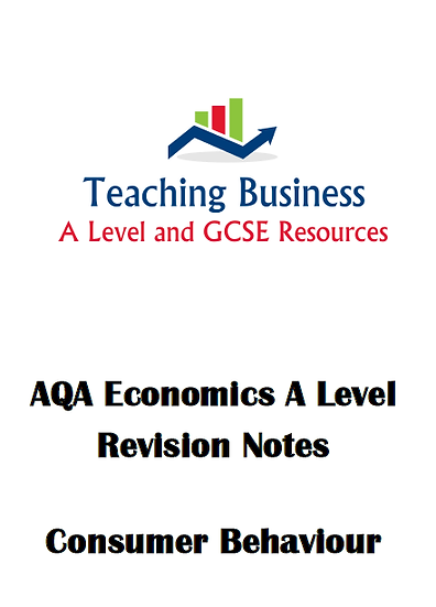 AQA Economics - Consumer Behaviour Study Notes