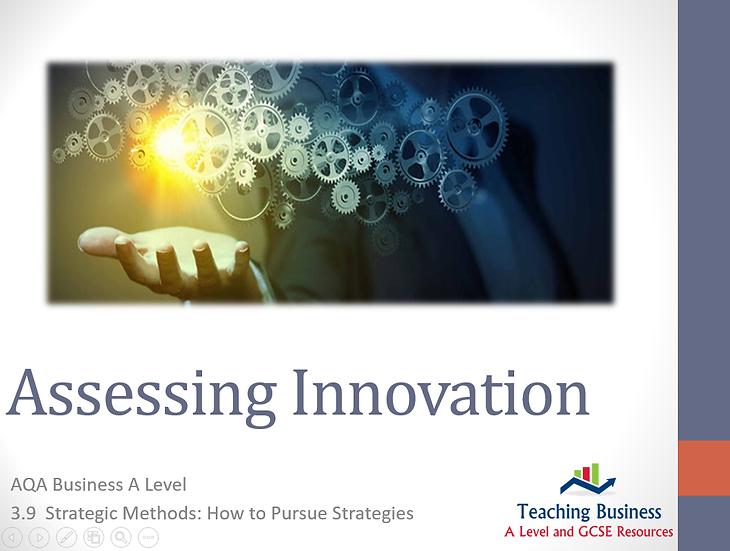 AQA Business - Assessing Innovation