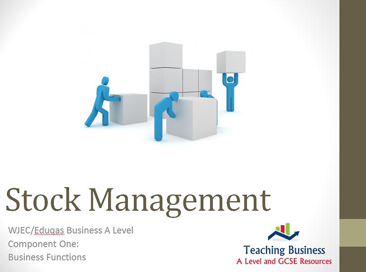 Eduqas PowerPoint Purchasing (Stock Management)