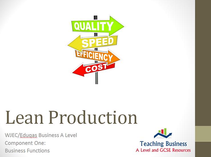 Eduqas PowerPoint Lean Production