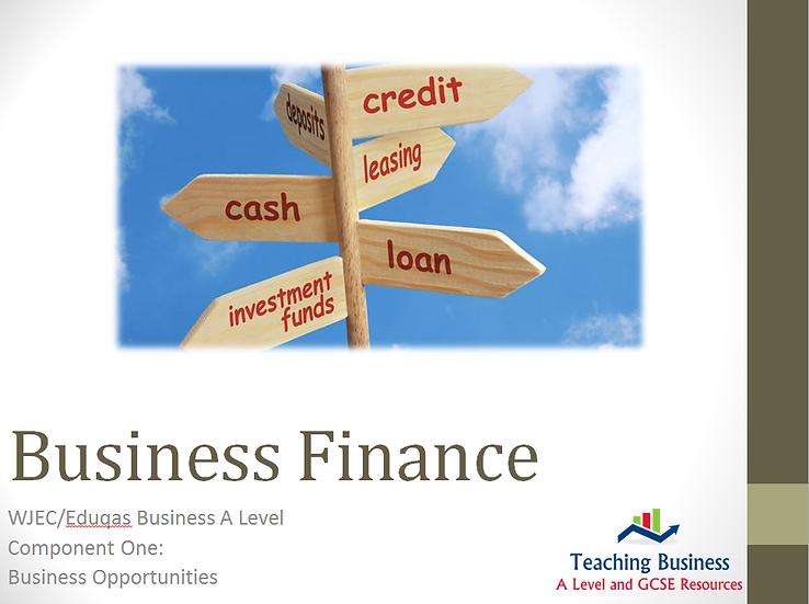 Eduqas PowerPoint Business Finance