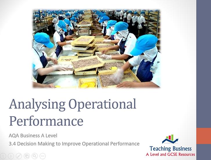AQA Business - Analysing Operational Performance