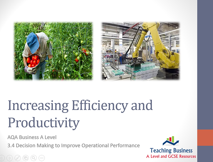 AQA Business - Increasing Efficiency and Productivity