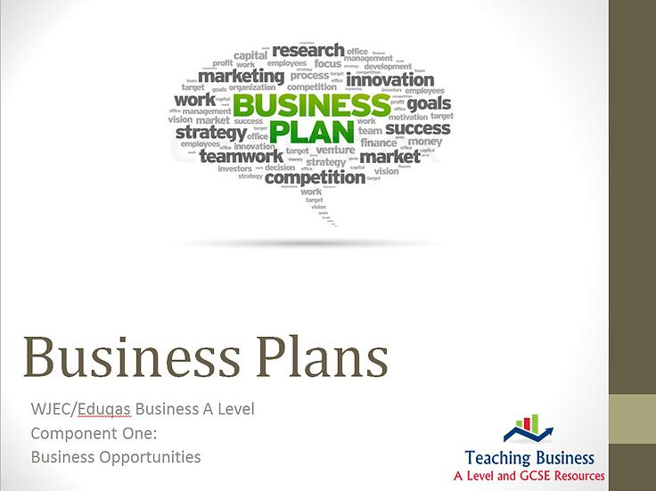 Eduqas PowerPoint Business Plans