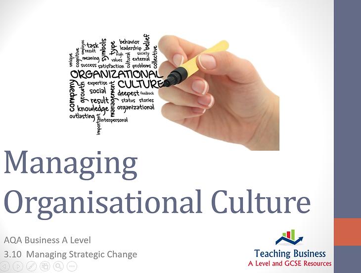 AQA Business - Managing Organisational Culture