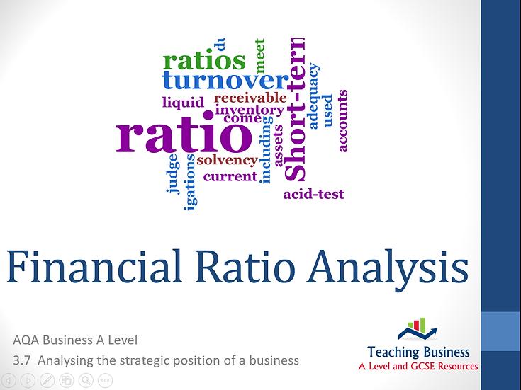 AQA Business - Financial Ratio Analysis