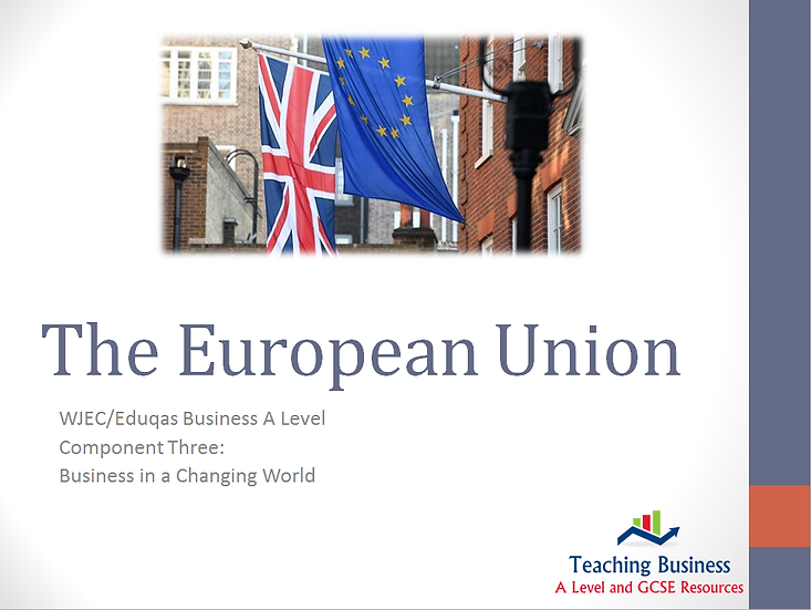 Eduqas PowerPoint - The European Union