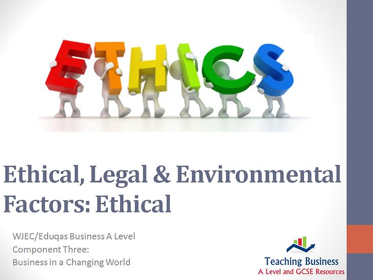 Eduqas PowerPoint Business Ethics