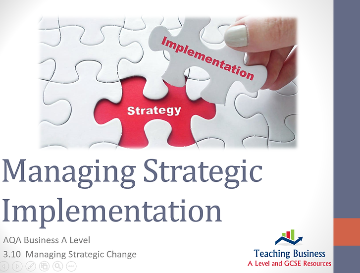 AQA Business - Managing Strategic Implementation