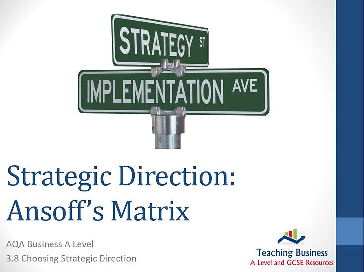 AQA Business - Strategic Direction