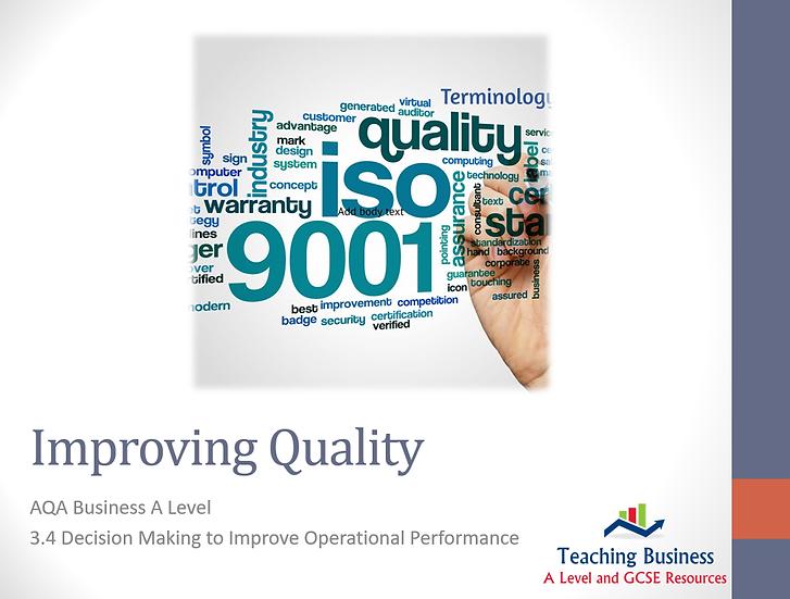 AQA Business - Improving Quality