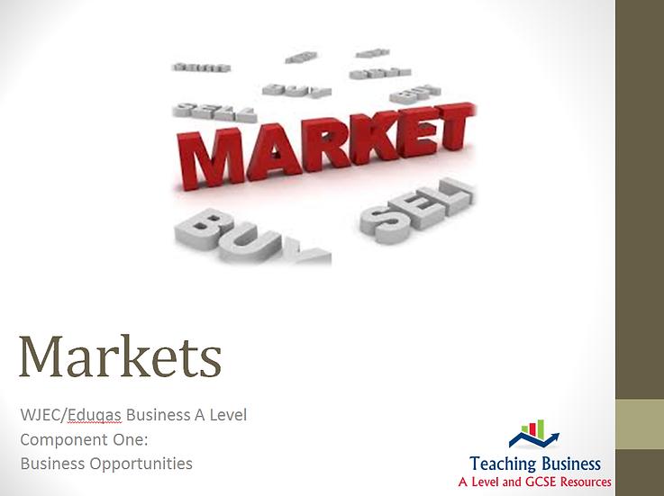 Eduqas PowerPoint Markets